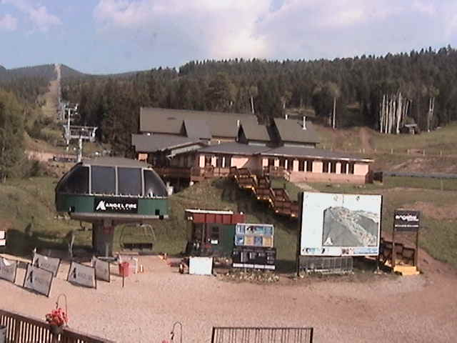 Angel Fire Resort: Base of Chile Express Webcam